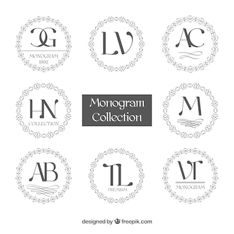 Raccolta di monogrammi circolari