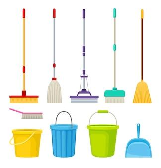 Raccolta di prodotti per la pulizia