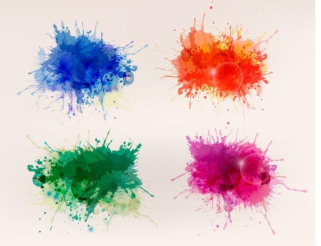 Raccolta di sfondi colorati ad acquerelli astratti