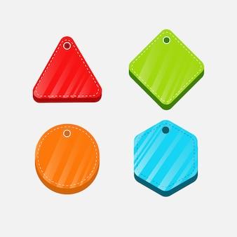 Collezione di etichette e distintivi moderni colorati