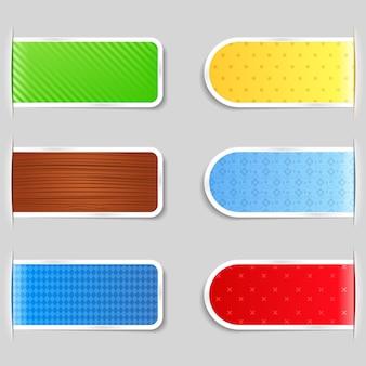 Raccolta di schede colorate