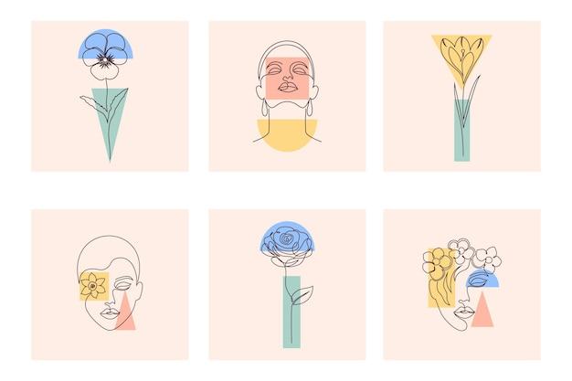 Raccolta di copertine per i poster dei volantini delle carte delle storie dei social media