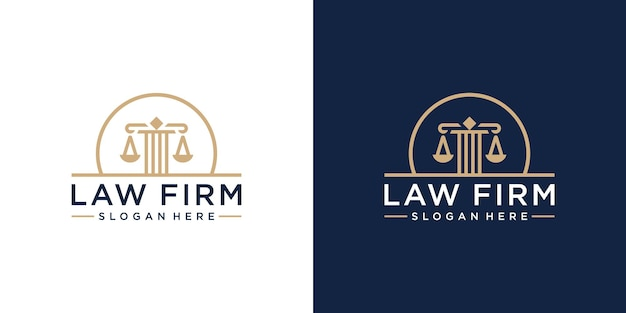 Raccolta del logo dello studio legale creativo