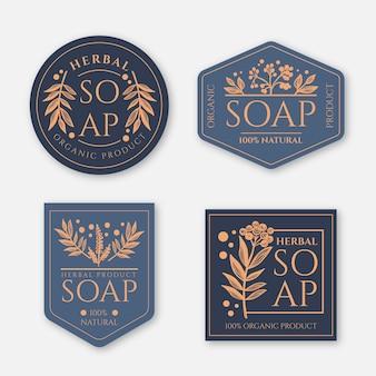 Collezione di etichette di sapone creative