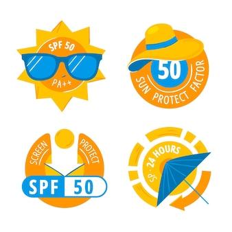 Collezione di badge ultravioletti creativi