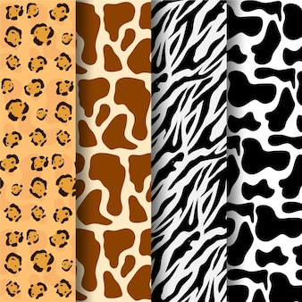 Raccolta di diversi modelli di stampa animalier