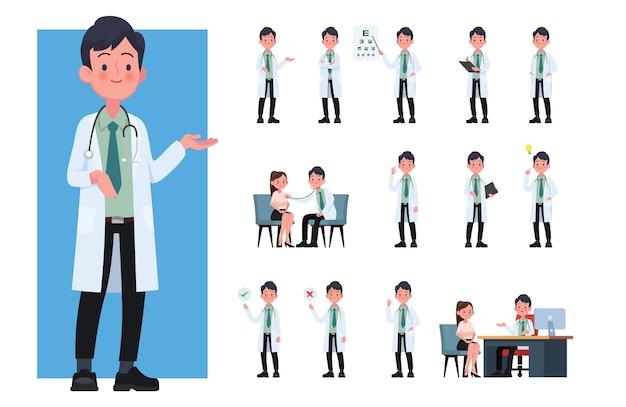 Raccolta di personaggi dei cartoni animati medico