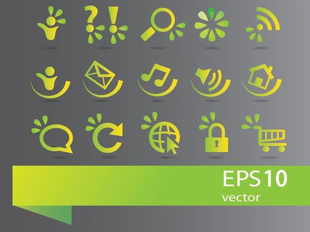 Raccolta di segni di ecologia - impostato per il design