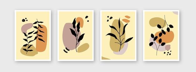Raccolta di modelli di fiori per il branding copre il poster del pacchetto di layout di design
