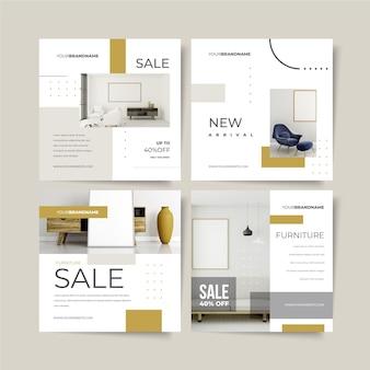 Raccolta di postazioni di vendita di mobili