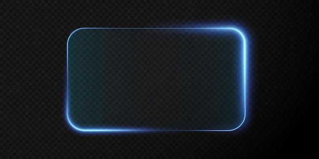 Collezione di futuristico hud cornice azzurra sfondo tecnologico cornici in vetro chiaro png