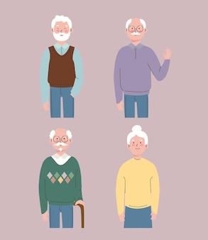 Raccolta dei nonni Vettore Premium