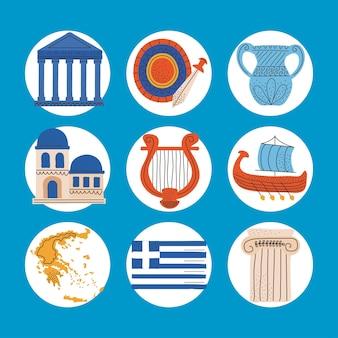 Collezione icone grecia