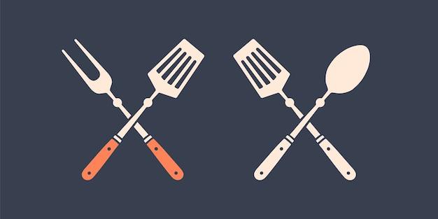 Collezione di strumenti grill