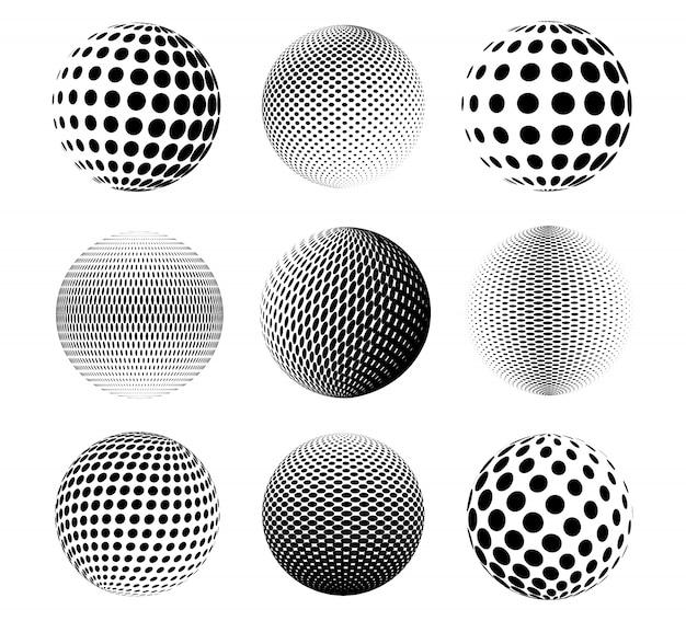 Collezione di sfere mezzetinte