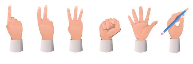 Raccolta di gesto della mano.