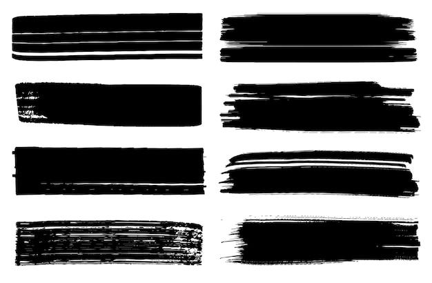 Raccolta di pennellate dipinte a mano