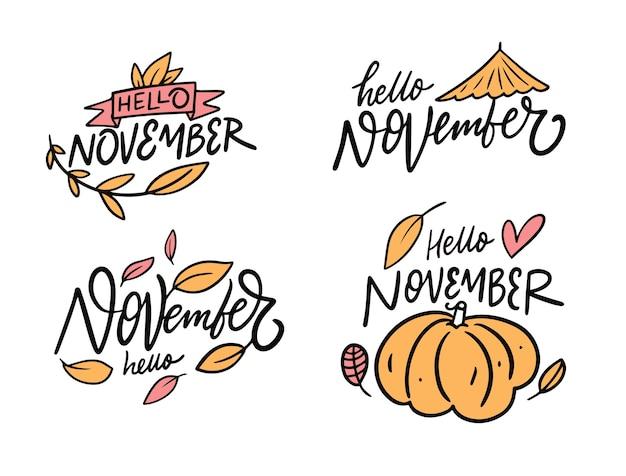 Raccolta di hello november modern calligraphy
