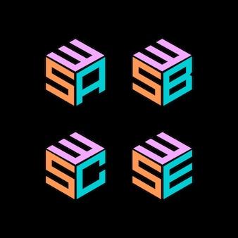 Collezione logo esagonale