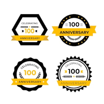 Raccolta di cento etichette di anniversario