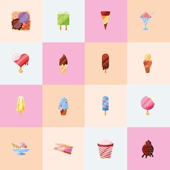 Collezione di gelati