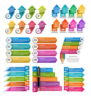 Raccolta infografica. elementi di design.