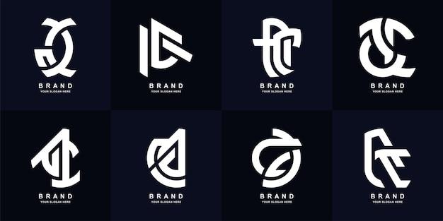 Lettera iniziale di raccolta ac o un design del modello di logo monogramma