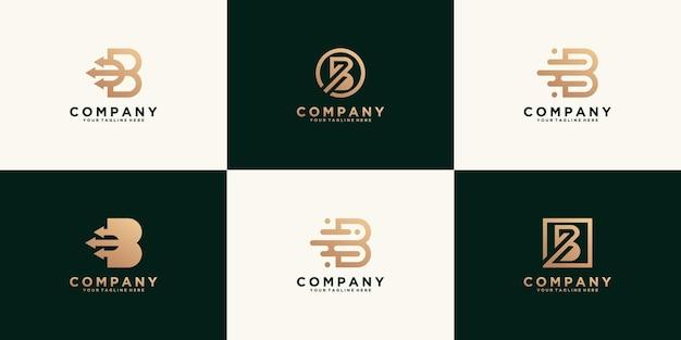 Collezione, modello di progettazione del logo della lettera iniziale b