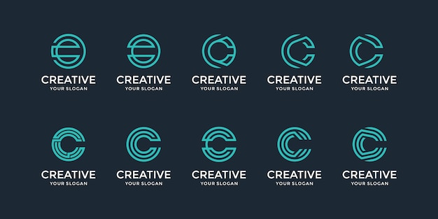 Una raccolta di ispirazione per il design del logo della lettera c.