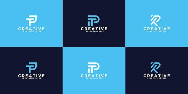 Una raccolta di iniziali di design del logo ispiratrici tp