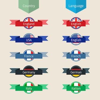 Raccolta di icone della lingua