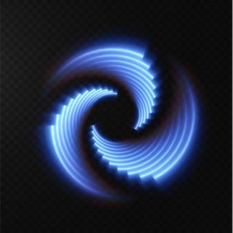 Raccolta di linee mezzetinte blu chiaro linee vettoriali radiali blu di velocità illustrazione vettoriale