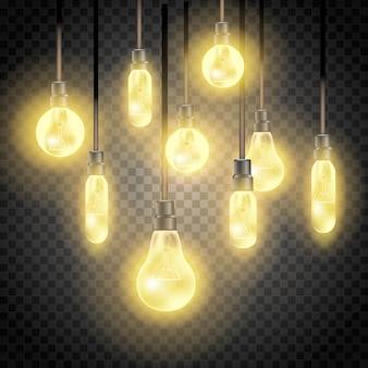 Raccolta di lampadine. illustrazione isolata
