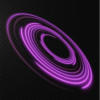 Raccolta di linee di mezzitoni rosa chiaro linee vettoriali radiali rosa di velocità illustrazione vettoriale