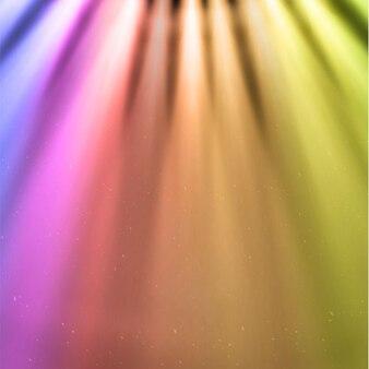 Raccolta di raggi di luce isolati su sfondo trasparente.