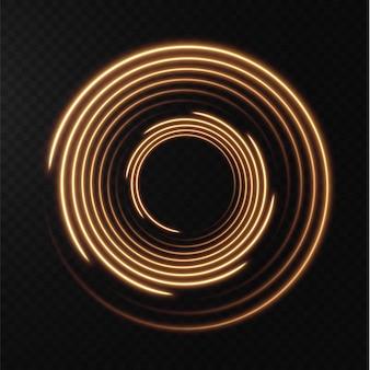 Raccolta di linee di mezzitoni giallo chiaro linee vettoriali radiali in oro di velocità illustrazione vettoriale