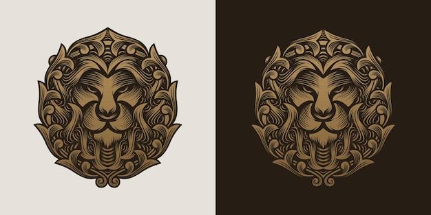 Collezione di lion head logo