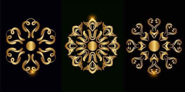 Raccolta di mandala ornamento o fiore