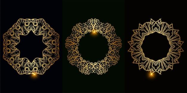 Collezione di ornamenti o fiori mandala