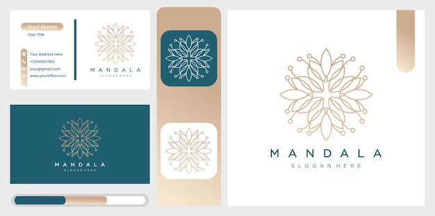 Raccolta di mandala con motivi ornamentali di fiori e foglie.