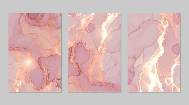 Raccolta di texture astratte in marmo