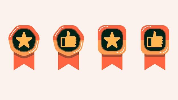 Raccolta di medaglie per il miglior venditore o articolo consigliato