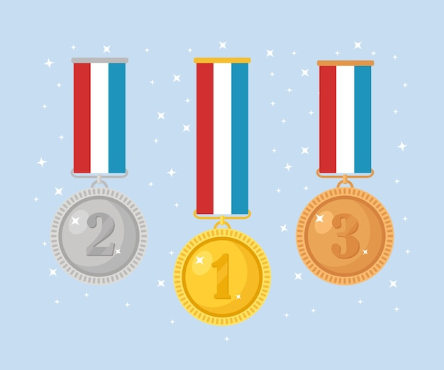 Raccolta di medaglia per il primo posto