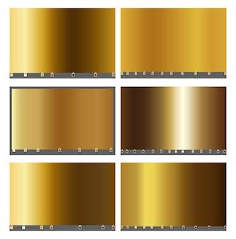 Raccolta di sfumature metalliche e oro