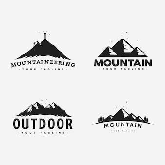 Collezione di logo di montagna