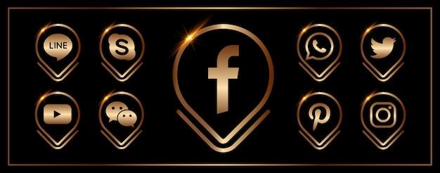 Una raccolta di icone popolari dei social media