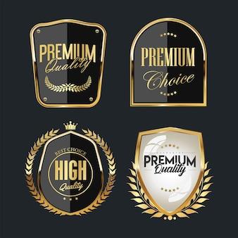 Collezione di modelli di badge ed etichette di alta qualità