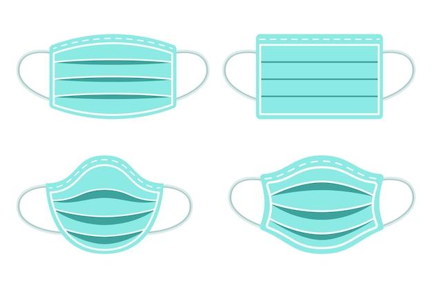 Raccolta di maschere respiratorie protettive