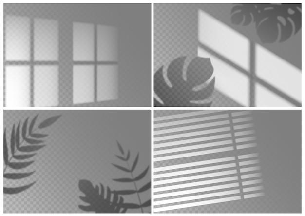 Raccolta di sovrapposizione di ombre realistiche