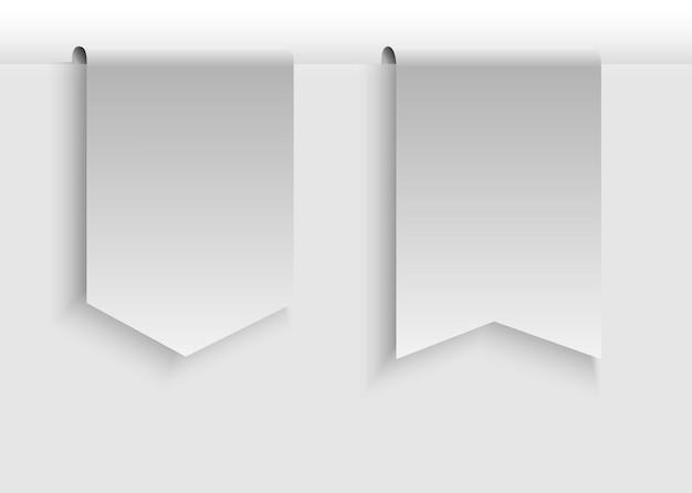 Collezione di design di prodotti promozionali a nastro su bianco